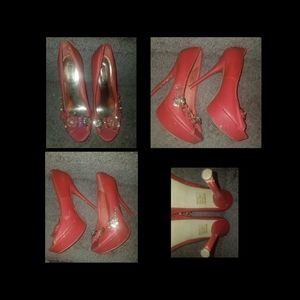 Red Wild Pair Heels